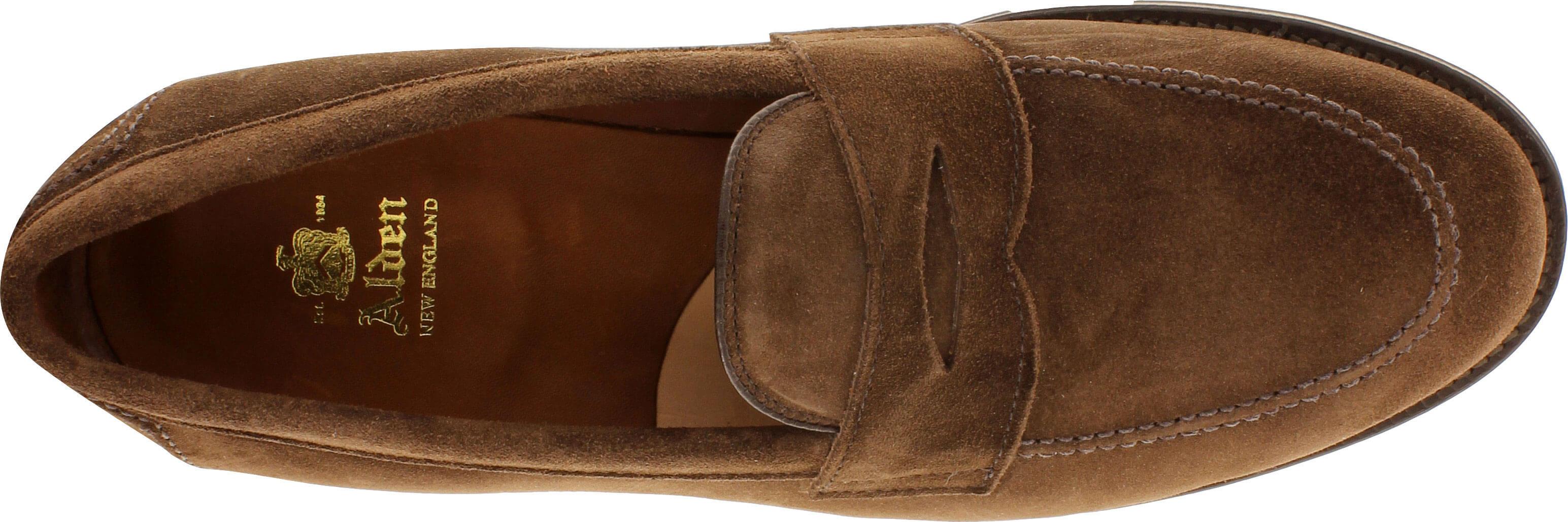 24bf9655a9e Alden Men s 9697F - Penny Loafer Flex Welt - Dark Brown Suede - The ...
