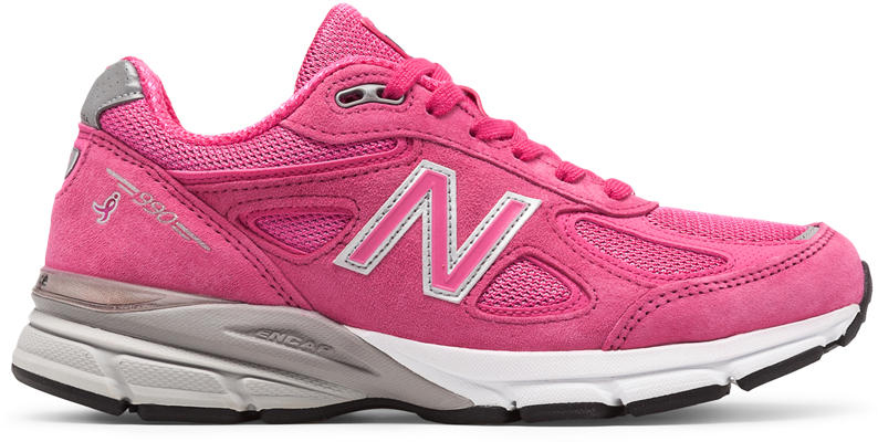 New Balance Women s W990KM4 - W990v4 Pink Ribbon - The Shoe Mart 2aaffc7878e4