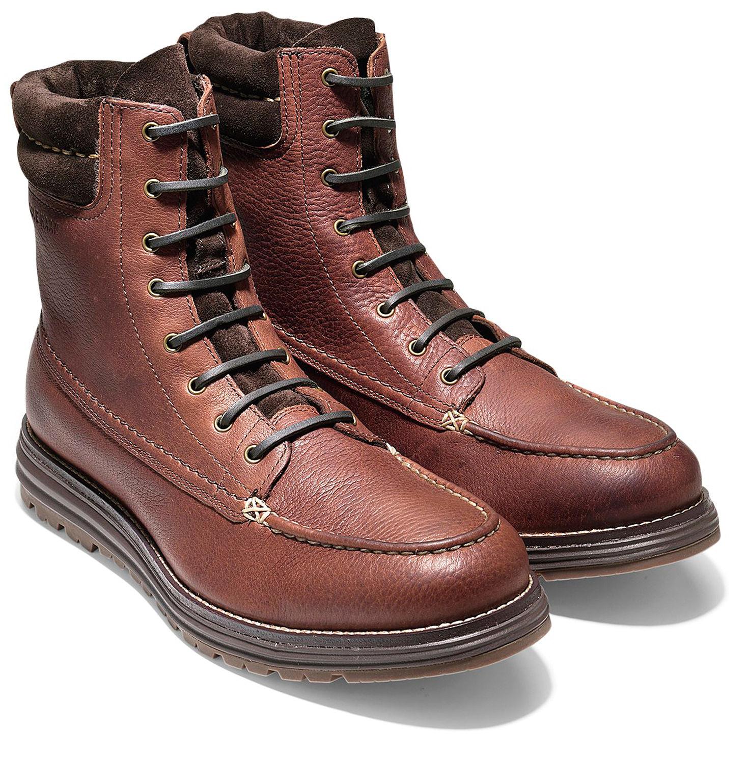 734dc92974d Cole Haan Men s Lockridge Moctoe Boot WP C23214 Harvest Brown - The ...