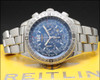 Breitling B2 Chronometre Chronograph A42362 blue dial vintage watch