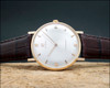 New Old Stock Cyma Tavannes 18 K solid Gold, 50's vintage watch