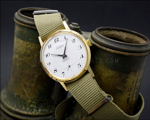 Swiss made vintage NOS military mechanical watch , nato strap