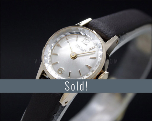 Duward, New Old Stock,  1960s, rose gold filled, cocktail Tiny watch