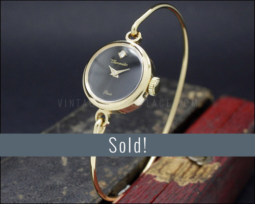 NOS Swiss bracelet watch, Thermidor, mechanical, gold plated, vintage