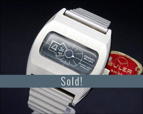 Buler Super-Nova, NOS,  Jump hour vintage watch, 100% original!