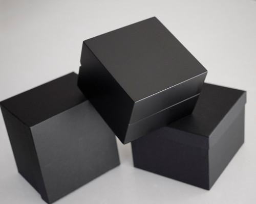 Vintage watch place box, wooden black watch box