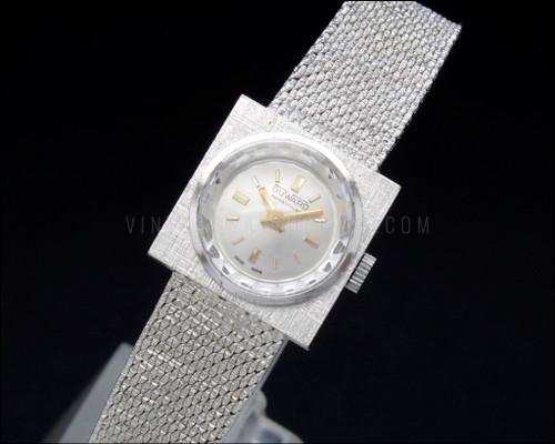 Bracelet vintage watch, Duward Prima, textured, Swiss made, 17 jewels, new old stock, NOS