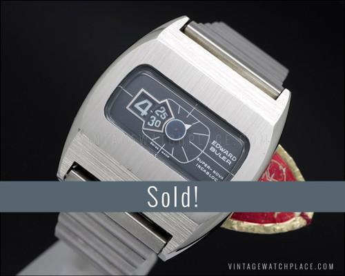 Buler Super-Nova, NOS, Jump hours vintage watch, 100% original!