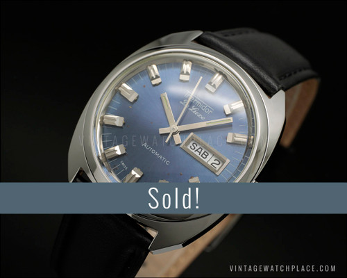 Age on dial, Thermidor De Luxe automatic, NOS vintage watch, ETA 2789, SEE PICTURES!