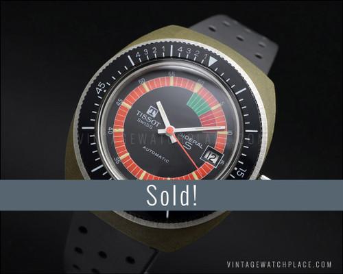Tissot Sideral S Diver fiberglass, automatic vintage watch, NOS