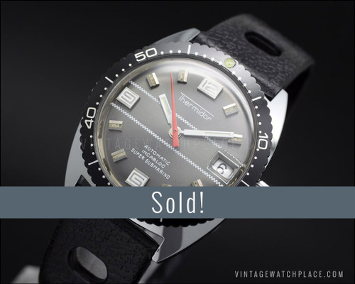 Thermidor Super Submarino Diver, automatic vintage watch, NOS