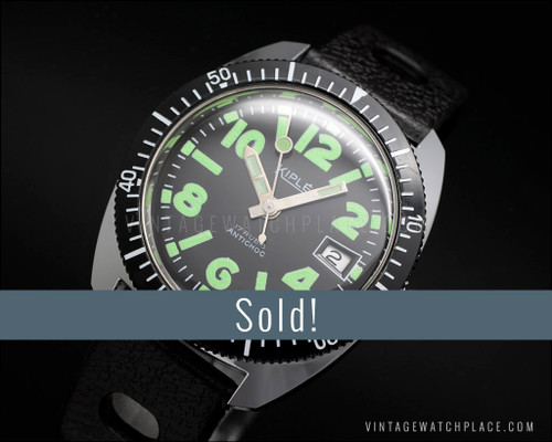 NOS Kiple Diver mechanical vintage watch, new old stock