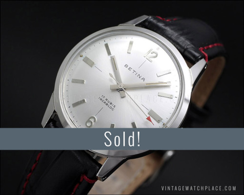 Betina, NOS classic vintage mechanical watch, new old stock