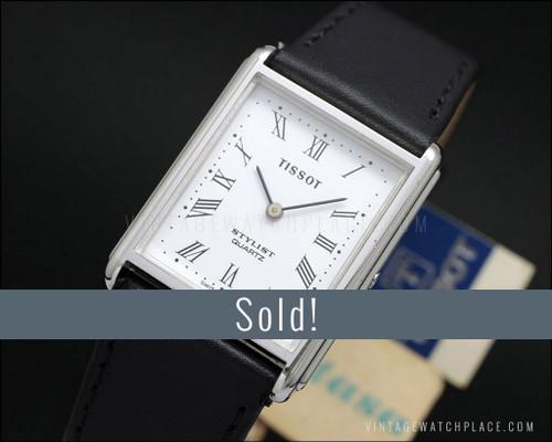 Ladies' Tissot Stylist vintage quartz watch, very dainty
