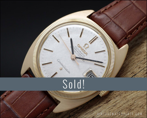Omega Constellation 18K rose gold automatic vintage watch, 168.027 Superb!