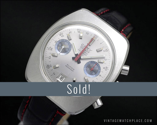 Camy Chronograph Swiss made vintage watch, very rare Valjoux 7732