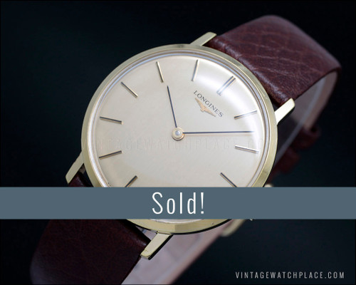 Longines Classic mechanical vintage watch, gold plated