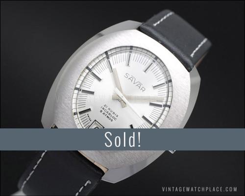 NOS Savar Galician mechanical vintage watch, 21 jewels