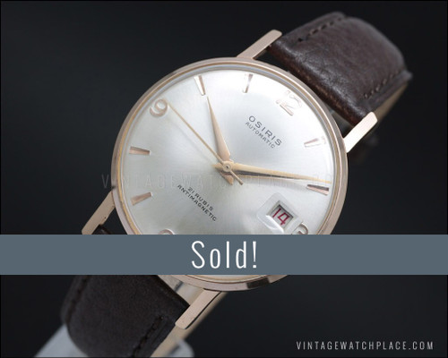 1950's Osiris Classic Automatic NOS Pink Gold plated