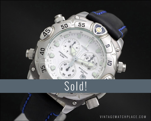 New Old Stock Festina Diver's Chronograph monster watch, Miyota 3S10