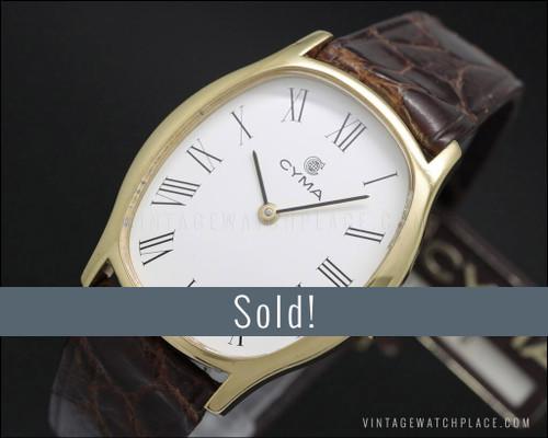 New Old Stock 30 mm. Cyma dress mechanical watch
