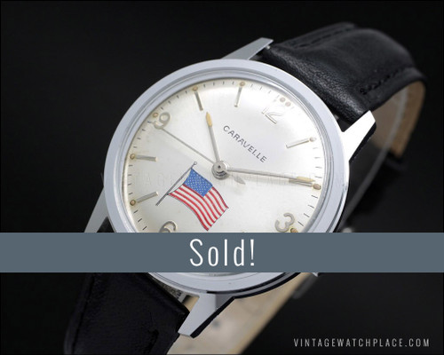 Caravelle (Bulova) American mechanical vintage watch
