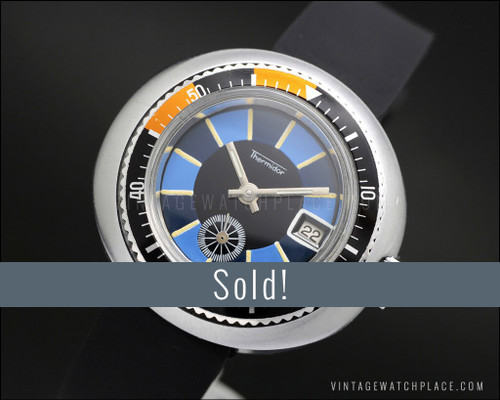 Thermidor Diver's mechanical vintage watch, waterproof tested!