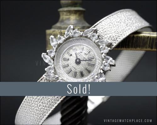 NOS Savar mechanical Cocktail jewelry watch, 925 Silver, Art Decó Style