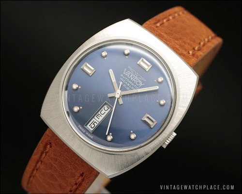 New old stock automatic vintage watch NOS N.O.S.