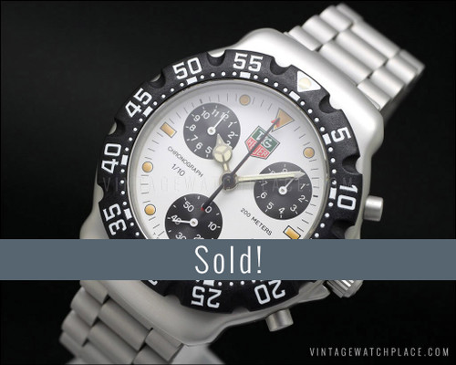 New Old Stock Tag Heuer F1 Chronograph CA 1212 RO, Superb!