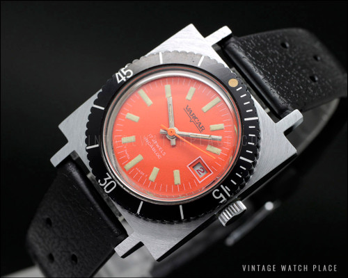New Old Stock Varcar Ladies' Diver mechanical vintage, beautiful dial!