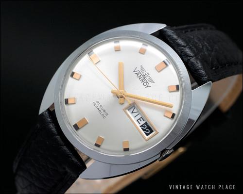 New Old Stock Vanroy dress mechanical vintage watch