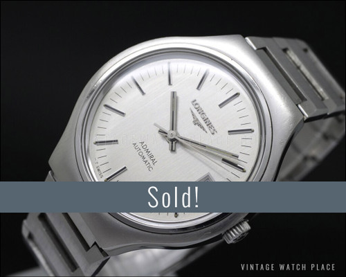 Longines Admiral automatic vintage watch, 28.800 A/h