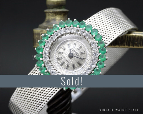 NOS Savar mechanical Cocktail jewelry watch, 925 Silver