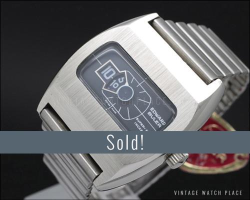 New Old Stock Buler Super-Nova Jump hour vintage watch, 100% original