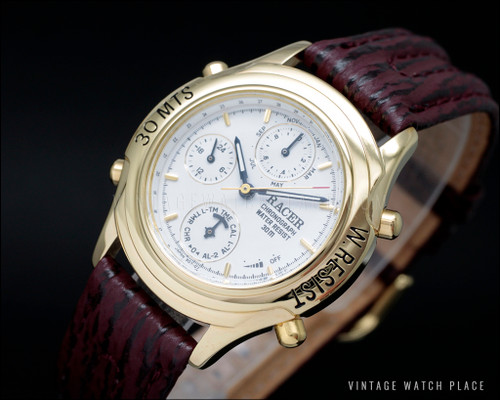 N.O.S. Boy's Racer Chronograph vintage watch, dancing hands