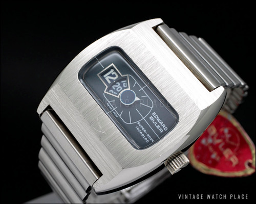 New Old Stock Buler Super Nova Jump hours vintage watch