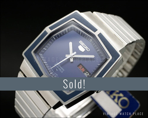 New Old Stock Seiko 5 Automatic vintage watch, very rare!