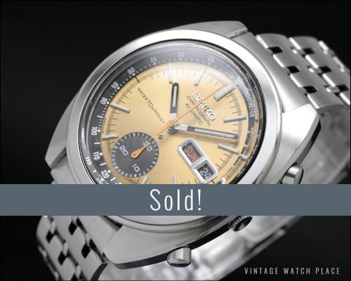Near NOS Seiko Automatic Chronograph vintage watch, 100% original