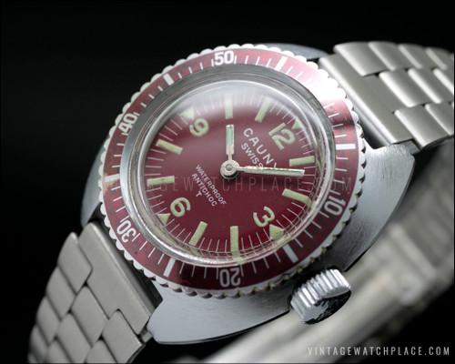 Cauny Diver vintage watch