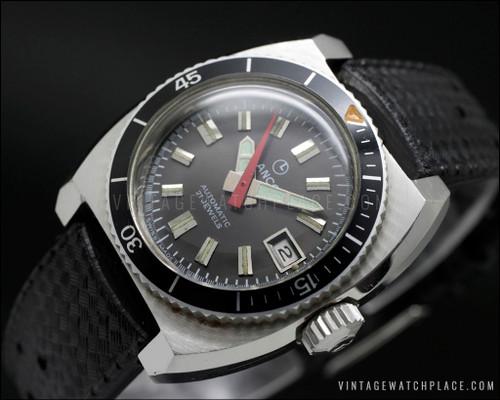 New Old Stock Lanco diver's automatic vintage watch NOS ETA 2551 movement