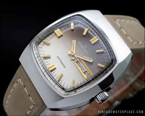 New Old Stock Radiant Blumar automatic vintage watch N.O.S. ETA 2789-1