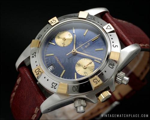 New Old Stock NOS Bassel vintage mechanical chronograph Poljot 3133