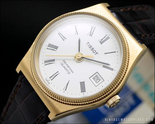 New Old Stock Tissot Seastar quartz vintage watch NOS