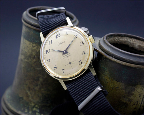 Swiss made NOS vintage military style watch , nato strap, army movement Unitas 6376