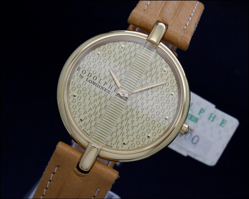 New Old Stock Rodolphe By Longines , gold filled vintage Quartz watch , reference 2801.1.153