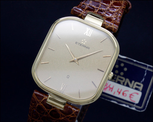 Vintage Eterna Dress NOS New Old Stock gold filled Quartz watch , ETA 956.032 movement , reference 121.4254.22