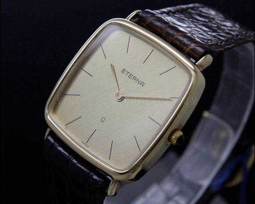Eterna New Old Stock , gold filled vintage Quartz watch , ETA 955.031 movement , reference 124.6135.22
