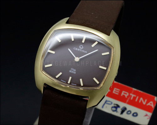 Certina CLUB 2000 NOS 70s MECHANICAL Vintage New Old Stock 13-22 Movement