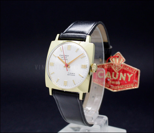 Cauny Swiss Master mechanical vintage watch
